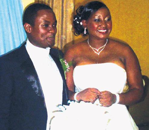 Edet and Harriet Umoh on their wedding day.