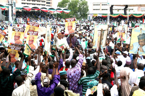 IBB's Abuja Rally: IBB Mukeso for N5,000 each. PHOTO: FEMI IPAYE.