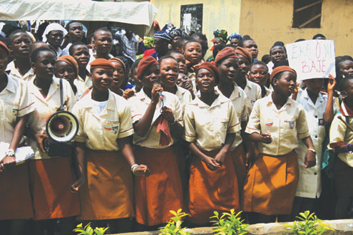Students of a public school in Lagos.