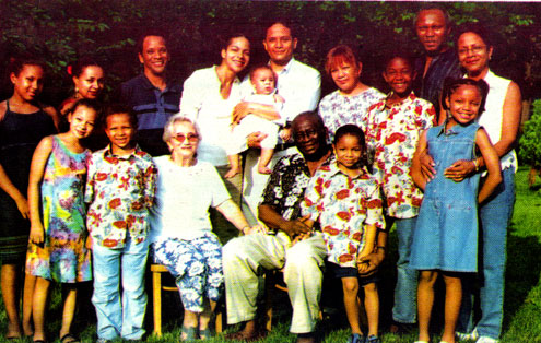 Fafunwa and Family. Photo: The Fafunwa family/The Guardian.