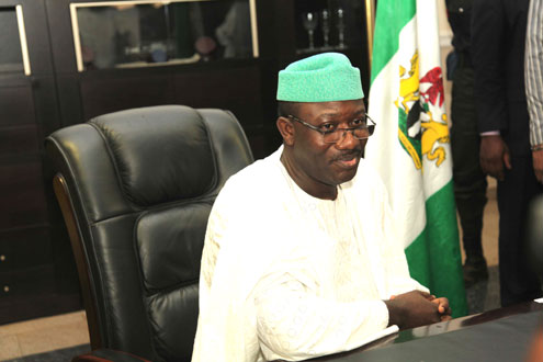 Fayemi: Reflecting on the enormity of the tasks ahead on his First Day in office. PHOTO: EMMANUEL OSODI.