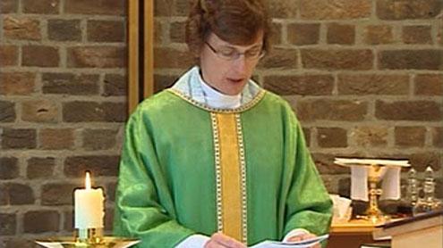 A female priest.