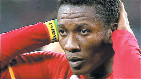 GYAN: Love trouble for Ghanaian soccer star.