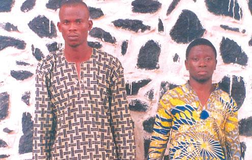 The suspects, Toyosi Olufowobi and Adekunle Tunde.