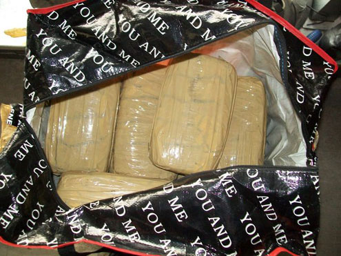 The 17kg cannabis that was intercepted at lagos airport.