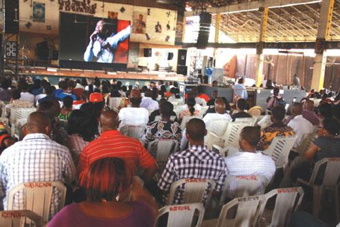 Fela enthusiasts at the screening.