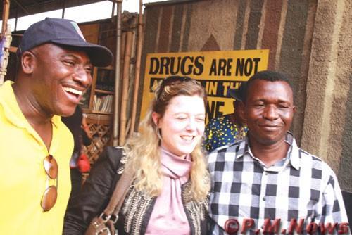 Lanre Arogundade (left), Veronica Oakeshot and  Michael Owhoko.