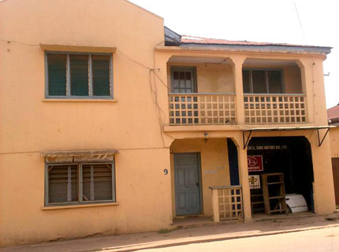 The house where Olu Esho was killed on Friday night. Photo: Gbenry Adesina