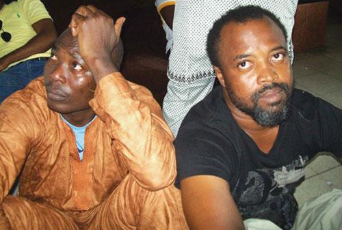 Kolawole Sosanya and Ahmed Folarin shortly after their arrest.
