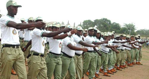 Corps members at a parade