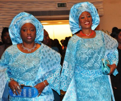 Deputy Governor of Ekiti State, Mrs Funmi Olayinka (right) with the First Lady of Ekiti State, Mrs. Bisi Fayemi (left)