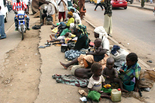 Some beggars in Lagos.