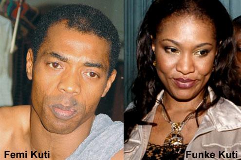 Femi Kuti with wife, Funke Kuti.
