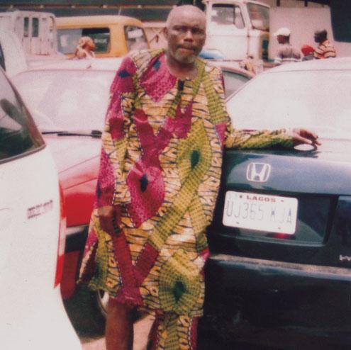 Olusegun Ofolorun, with the stolen car.