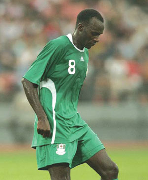 Sani Kaita in action for Nigeria during the last 2010 FIFA World Cup in South Africa.