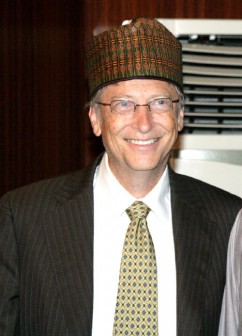 Bill Gates in Abuja Nigeria