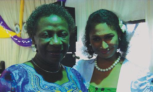 Mrs. Folunshade Omolara Erogbogbo, Permanent Secretary, Lagos State Ministry of Education and Olayinka Olukunga (NNENA) at the LASU Award Dinner 2011.