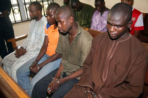 Suspected members of Boko Haram.
