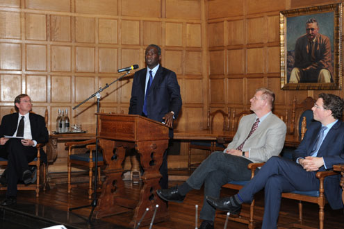 """""""WE HAVE RESTORED HOPE TO OUR PEOPLE"""", SAYS FASHOLA AT OXFORD UNIVERSITY LECTURE"""