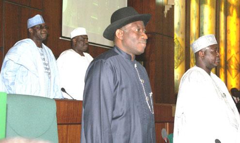 President Goodluck Jonathan: Hit by the Speaker