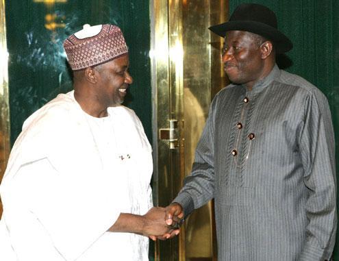 Vice President Nnamadi Sambo and President Goodluck Jonathan.