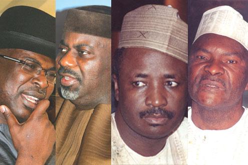 (From left) Silva of Bayelsa State, Imoke of Cross River State, Wamako of Sokoto and Idris Kogi State