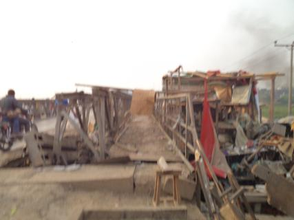 bombed bridge in Bayelas