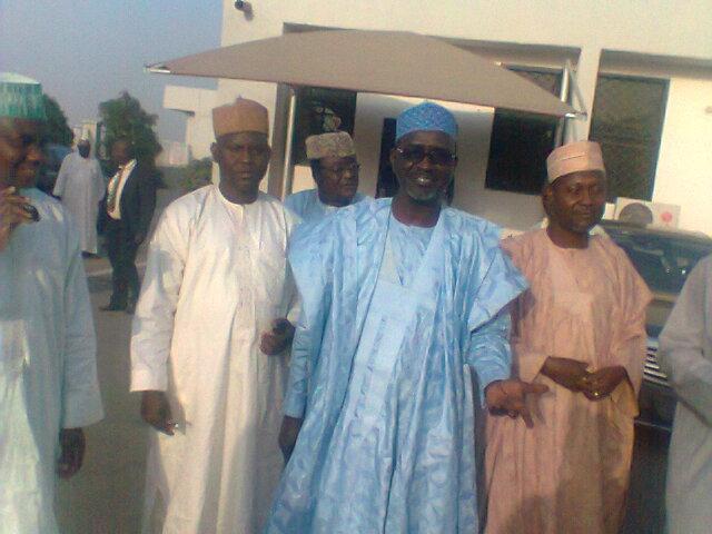 Shekarau at Malam Aminu Kano Internationaln Airport yesterday shortly after his arrival from Abuja