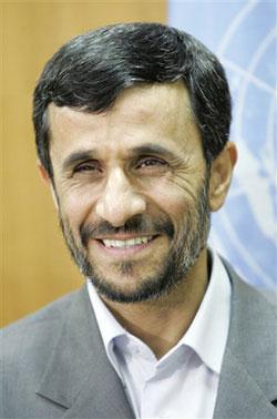 Ahmadinejad, Iranian president.