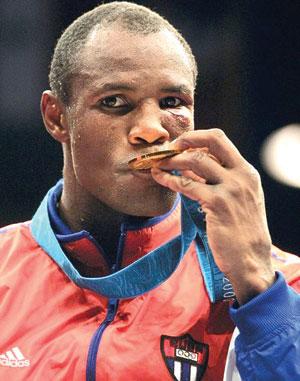 Felix Savon, Cuba's boxing legend.
