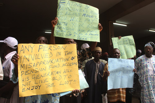 Nigerian Pensioners in Protest (1)
