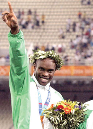 Udobong won a bronze medal for Nigeria at 2004 Olympic Games in Athens, Greece.