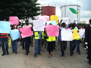 Air Nigeria workers protest
