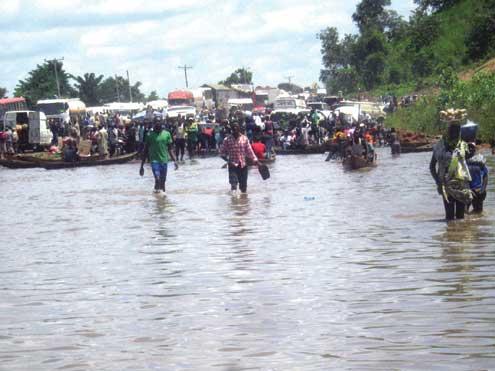 File photo of Lokoja Flood