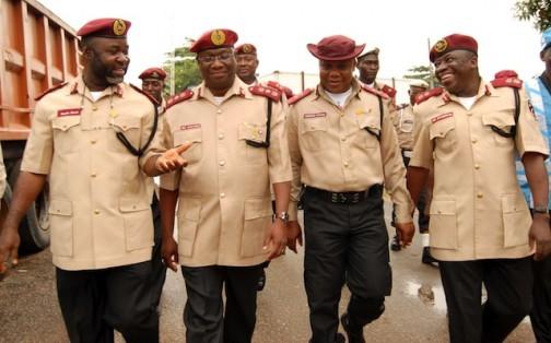 Chidoka and the corps marshalls at FRSC