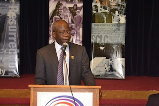 Tinubu in a recent speaking event in USA