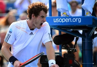 andy murray at the US Open semi final