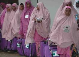 another set of female pilgrims held in Jeddah