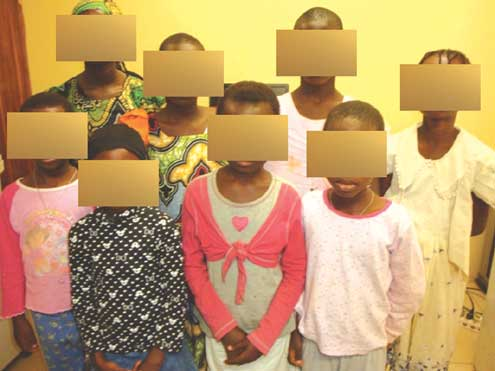 The eight kids raped by one man.