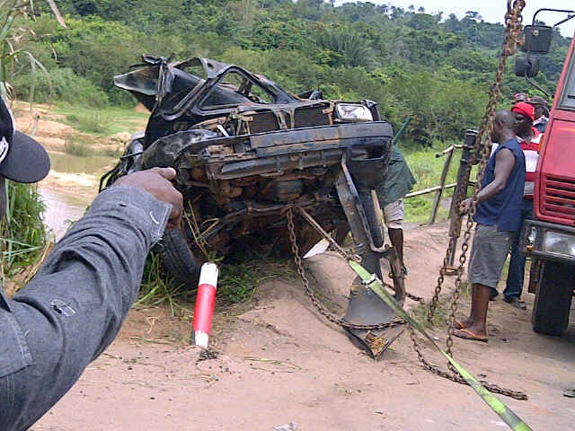 the vehicle in which the lecturers were travelling