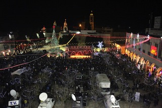 A view of the Manger in Bethlehem