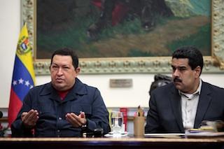 Hugo Chavez and Maduro