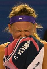Azarenka: tear of joy
