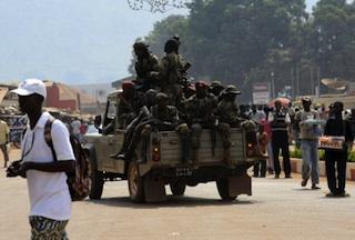 CAR soldiers in  Bangui