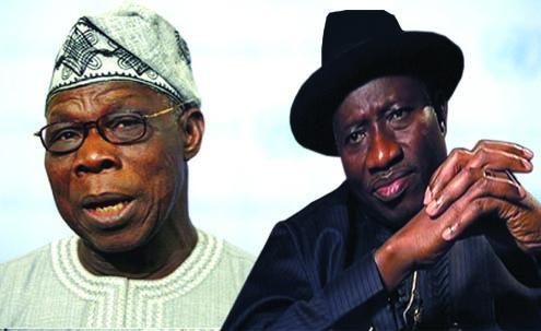 Olusegun Obasanjo and Presidend Gooluck Jonathan