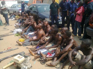 File Photo: some arrested oil pipeline vandals