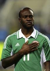 Victor Moses: brace saved Nigeria