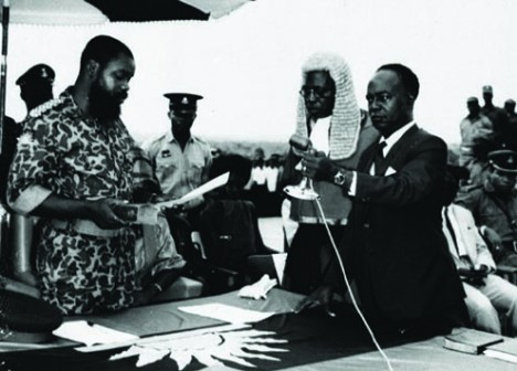 Ojukwu: Sworn in as Head of State of Biafra