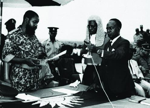 Ojukwu…Sworn in as Head of State of Biafra
