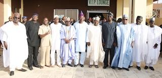 all the APC governors at the Maiduguri airport